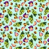 Τροπικό σχέδιο φρούτων διανυσματική απεικόνιση
