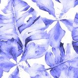 Τροπικό σχέδιο Watercolor Στοκ φωτογραφία με δικαίωμα ελεύθερης χρήσης