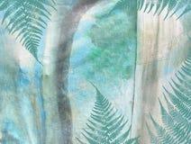 Τροπικό σχέδιο grunge ζουγκλών floral αφηρημένη ανασκόπηση κατασκευασμένη Στοκ εικόνα με δικαίωμα ελεύθερης χρήσης