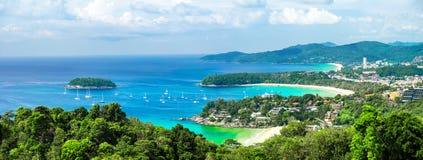 Τροπικό ωκεάνιο πανόραμα τοπίων Ταϊλάνδη Στοκ φωτογραφία με δικαίωμα ελεύθερης χρήσης