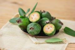 Τροπικό feijoa καρπού υγιής χορτοφάγος τροφίμων Στοκ εικόνες με δικαίωμα ελεύθερης χρήσης
