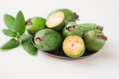 Τροπικό feijoa καρπού υγιής χορτοφάγος τροφίμων Στοκ φωτογραφίες με δικαίωμα ελεύθερης χρήσης