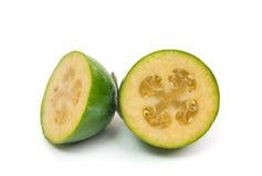 Τροπικό feijoa φρούτων που απομονώνεται στο άσπρο υπόβαθρο Στοκ Εικόνες