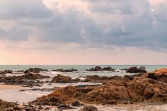 Τροπικό seascape σε Rayong, Ταϊλάνδη Στοκ Φωτογραφίες