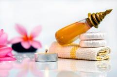 Τροπικό wellness spa & aromatherapy έννοια Στοκ Εικόνες