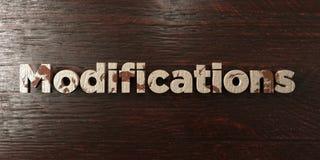 Τροποποιήσεις - βρώμικος ξύλινος τίτλος στο σφένδαμνο - τρισδιάστατο δικαίωμα ελεύθερη εικόνα αποθεμάτων Στοκ Φωτογραφία