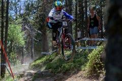 ΤΡΟΥ BROSNAN ΑΥΣΤΡΑΛΊΑ στο ΠΑΓΚΌΣΜΙΟ ΚΎΠΕΛΛΟ 2019 της MERCEDES-BENZ UCI MTB - DHI Vallnord, Ανδόρα τον Ιούλιο του 2019 στοκ φωτογραφίες
