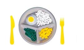 Τροφή για σκέψη Ένα γεύμα φιαγμένο από πλαστικό στοκ εικόνες