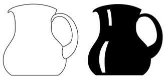 Τροφοδοτημένη χέρι μονοχρωματική κομματιάζοντας μηχανή μηχανή κοπής κιμά χεριών κουζινών εικονιδίων κρεατομηχανών Στοκ Φωτογραφία