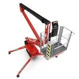 Τροφοδοτημένος μηχανή ανελκυστήρας ψαλιδιού στο λευκό τρισδιάστατη απεικόνιση απεικόνιση αποθεμάτων