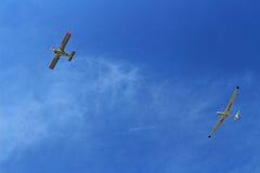 Τροφοδοτημένο ανεμοπλάνο προώθησης αεροσκαφών Στοκ εικόνα με δικαίωμα ελεύθερης χρήσης