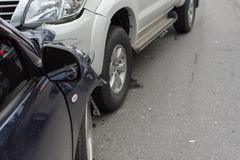 Τροχαίο ατύχημα από το τροχαίο στο δρόμο Στοκ Φωτογραφία