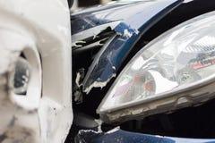 Τροχαίο ατύχημα από το τροχαίο στο δρόμο Στοκ φωτογραφία με δικαίωμα ελεύθερης χρήσης