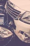 Τροχαίο ατύχημα από το τροχαίο στο δρόμο Στοκ φωτογραφίες με δικαίωμα ελεύθερης χρήσης