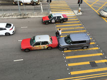 Τροχαίο ατύχημα στο δρόμο στο Χονγκ Κονγκ Στοκ εικόνα με δικαίωμα ελεύθερης χρήσης