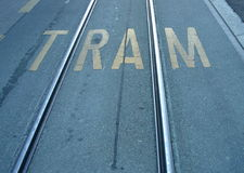 τροχιοδρομική γραμμή ραγών Στοκ φωτογραφία με δικαίωμα ελεύθερης χρήσης