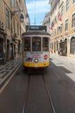 Τροχιοδρομική γραμμή της Λισσαβώνας, Πορτογαλία Στοκ φωτογραφίες με δικαίωμα ελεύθερης χρήσης