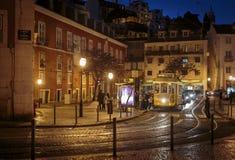 Τροχιοδρομική γραμμή Λισσαβώνα Στοκ φωτογραφίες με δικαίωμα ελεύθερης χρήσης