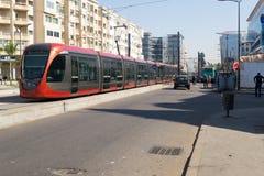 Τροχιοδρομική γραμμή στη Καζαμπλάνκα Στοκ Φωτογραφίες