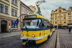 Τροχιοδρομική γραμμή στο Πίλζεν Στοκ εικόνες με δικαίωμα ελεύθερης χρήσης