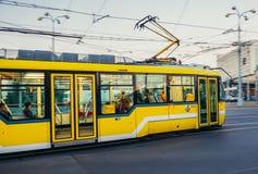 Τροχιοδρομική γραμμή στο Πίλζεν Στοκ Εικόνες