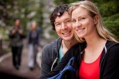 τροχόσπιτο ευτυχές Στοκ φωτογραφίες με δικαίωμα ελεύθερης χρήσης