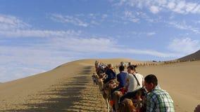 Τροχόσπιτο καμηλών στην έρημο Στοκ Φωτογραφίες