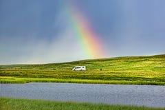 Τροχόσπιτο στη Νορβηγία στοκ φωτογραφία
