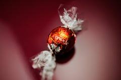 Τρούφα σοκολάτας Lindor Lindt Στοκ Φωτογραφίες