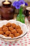 Τρούφες δαμάσκηνων σοκολάτας στοκ φωτογραφίες