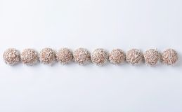 Τρούφες καρύδων σοκολάτας Στοκ Φωτογραφίες