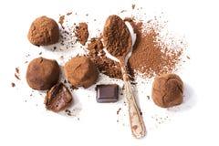 Τρούφες σοκολάτας στοκ εικόνες