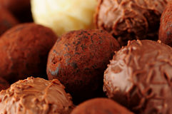 τρούφες σοκολάτας Στοκ Εικόνα