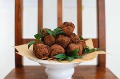 Τρούφες στο πιάτο Στοκ Εικόνες