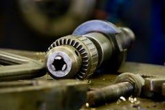 τρυπάνι τσοκ βιομηχανικό Στοκ Φωτογραφίες