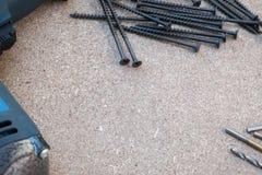 Τρυπανιών κατσαβιδιών πώλησης εργαλείων DIY copyspace Στοκ Φωτογραφία