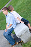 τρυπημένα αγόρια δύο Στοκ φωτογραφία με δικαίωμα ελεύθερης χρήσης