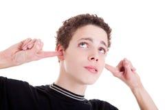 τρυπημένα δάχτυλα αυτιών ο Στοκ φωτογραφίες με δικαίωμα ελεύθερης χρήσης