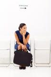 Περιμένοντας συνέντευξη απασχόλησης Στοκ φωτογραφία με δικαίωμα ελεύθερης χρήσης