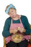 τρυπημένη ηλικιωμένη σύζυγ&om Στοκ Εικόνες