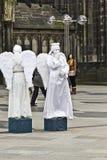 Τρυπημένος καθεδρικός ναός της Κολωνίας αγγέλων Στοκ φωτογραφία με δικαίωμα ελεύθερης χρήσης