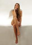 τρυπημένο άγγελος κορίτ&sigma Στοκ Εικόνες