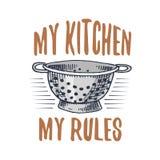 Τρυπητό ή εργαλεία, μαγειρεύοντας ουσία για τη διακόσμηση επιλογών έμβλημα λογότυπων ψησίματος ή ετικέτα, χαραγμένο χέρι που σύρε Στοκ Φωτογραφίες