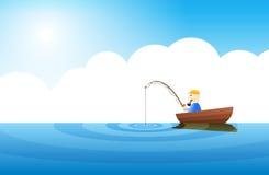 τρυπώντας αλιεία πολύ Στοκ Εικόνα