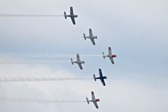 Τρωική στρατιωτική κληρονομιά airshow 2014 ιππέων στοκ εικόνα με δικαίωμα ελεύθερης χρήσης