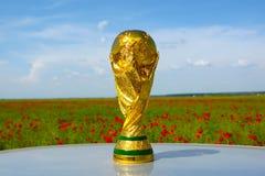 Τρόπαιο Παγκόσμιου Κυπέλλου Στοκ Εικόνες