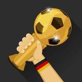 Τρόπαιο ποδοσφαίρου για τη Γερμανία διανυσματική απεικόνιση