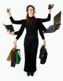 τρόπος επιχειρηματιών multitask μυστικός Στοκ Εικόνες