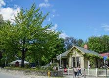Τρόπος ζωής ανθρώπων στις διακοπές σε Arrowtown Νέα Ζηλανδία Στοκ Εικόνα
