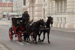 Τρόπος ζωής Βιέννη Αυστρία - συρμένο άλογο κάρρο Στοκ εικόνες με δικαίωμα ελεύθερης χρήσης